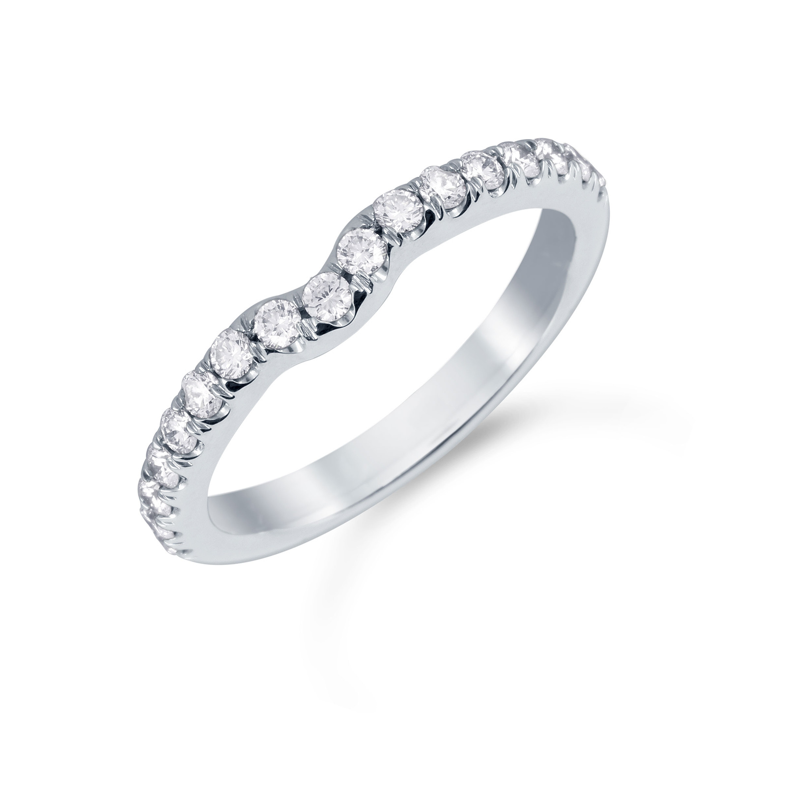 Mappin & Webb Platinum 0.31cttw Diamond Hermione Wedding Ring