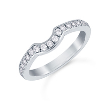 Platinum 0.29cttw Diamond Boscobel Wedding Ring