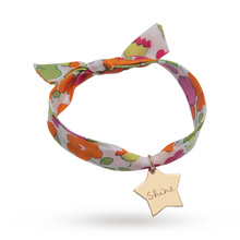 Merci Maman Liberty Print Yellow Gold Shine Star Bracelet