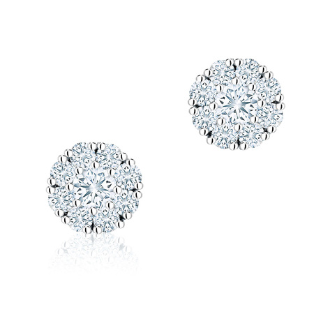 Birks Snowflake 0.26ct Diamond Cluster Stud Earrings