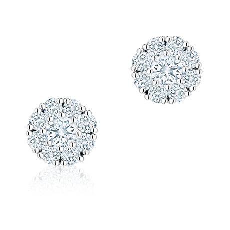 Birks Snowflake 0.43ct Diamond Cluster Stud Earrings