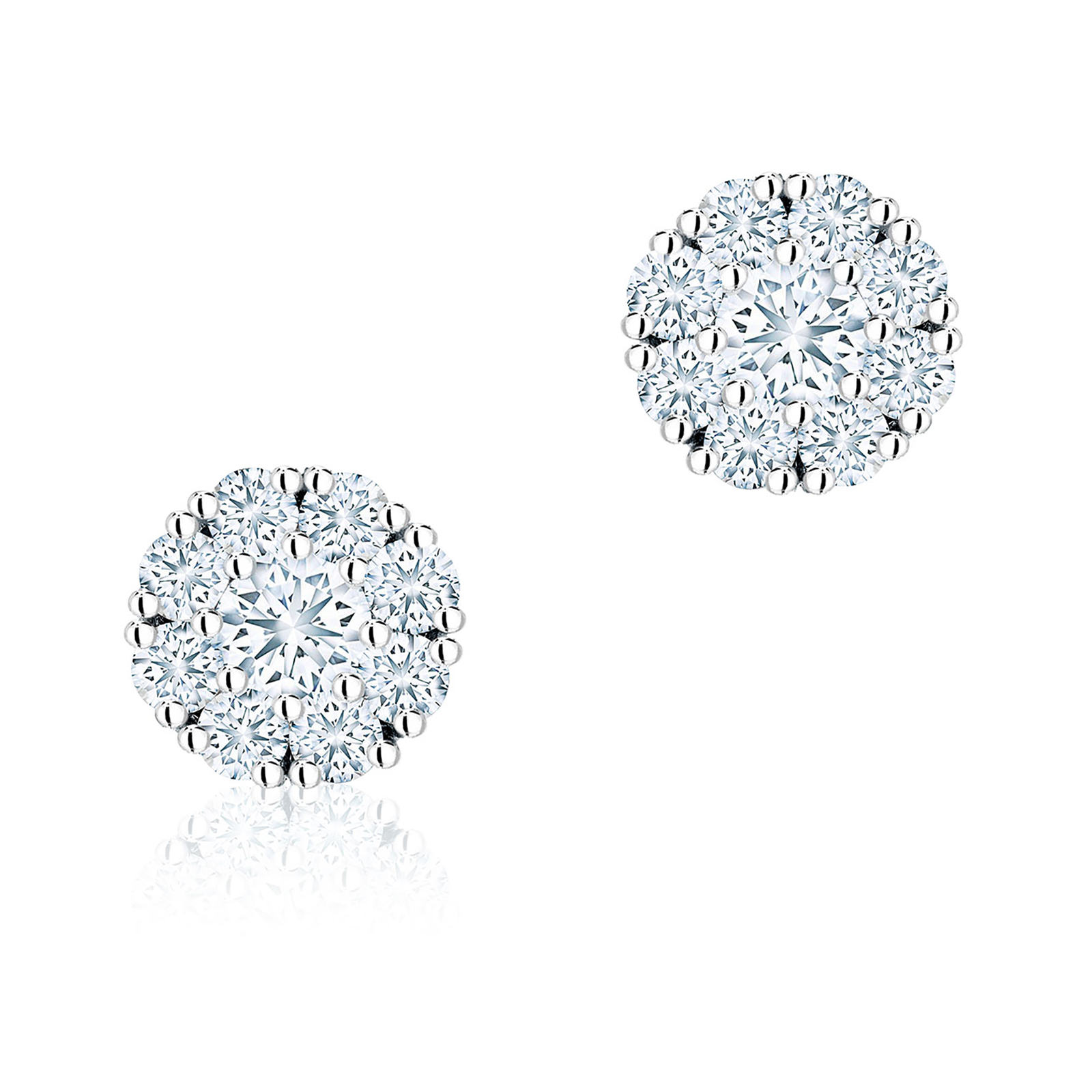 Birks Snowflake 0 43ct Diamond Cer Stud Earrings