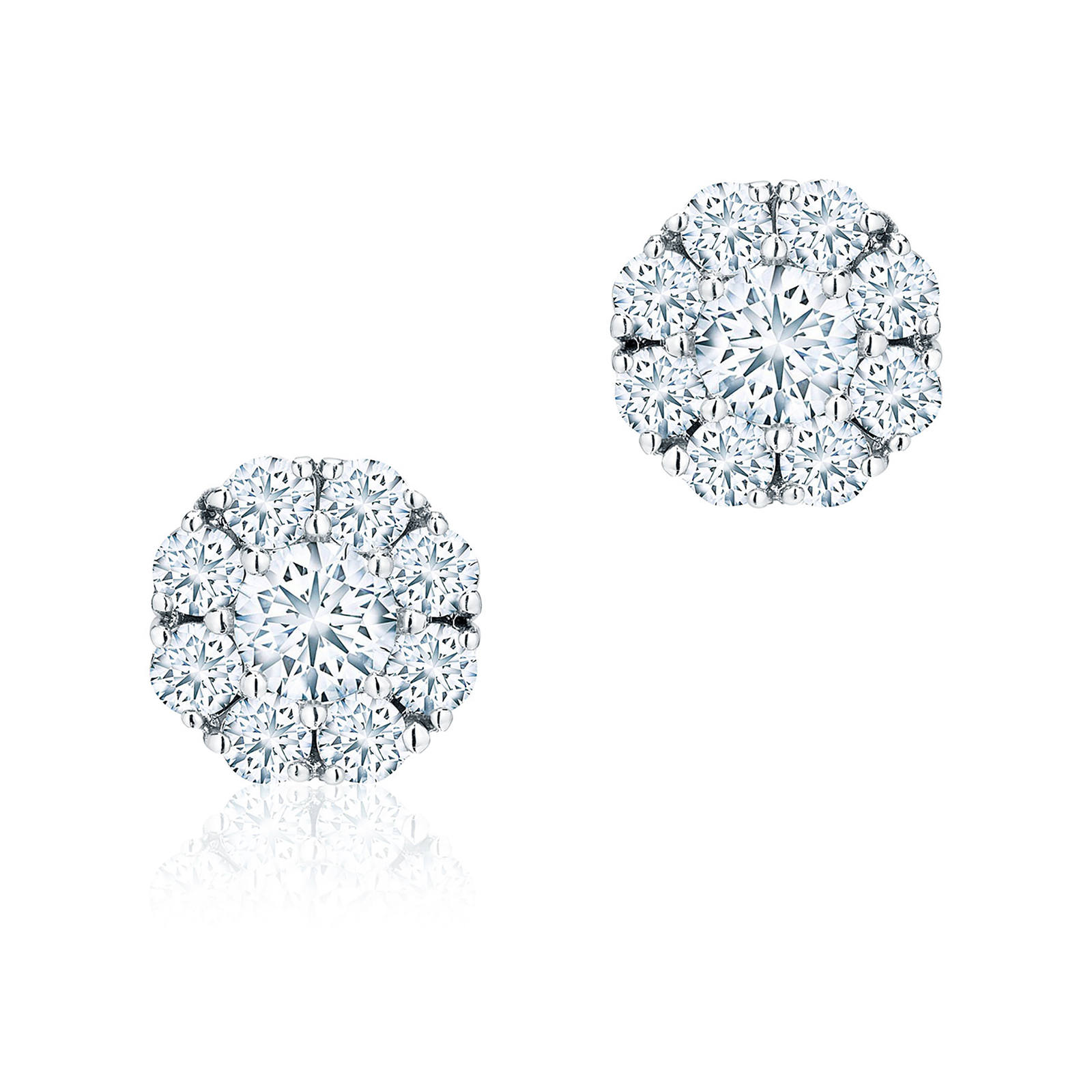 Birks Snowflake 0 92ct Diamond Cer Stud Earrings