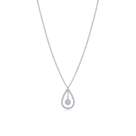 Birks Snowflake 0.24ct Diamond Teardrop Necklace