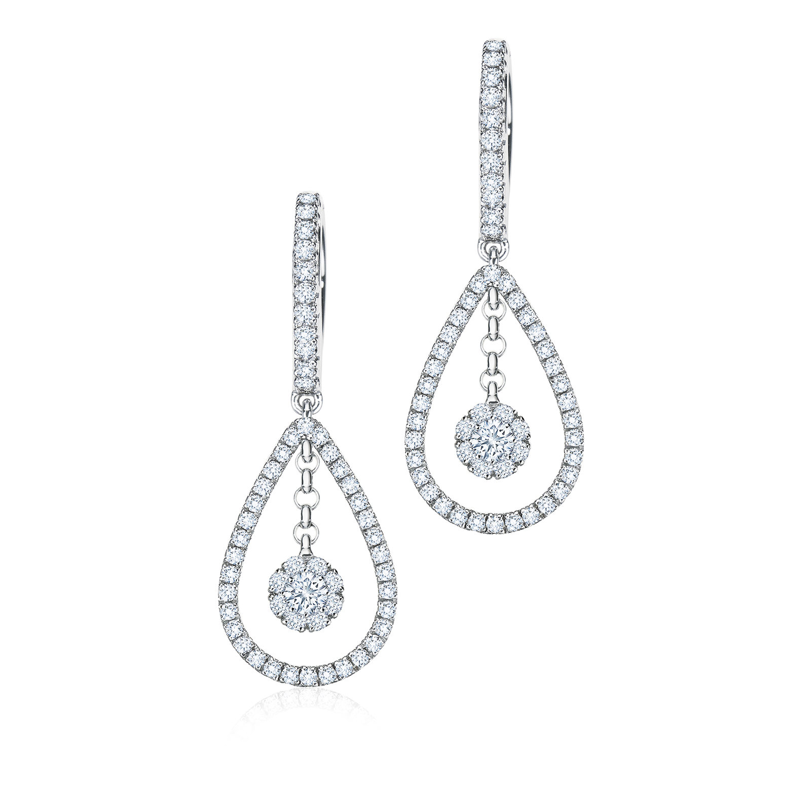 Birks Snowflake 0.61ct Diamond Teardrop Earrings