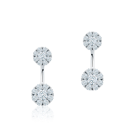 Birks Snowflake Small Round Jacket Earrings