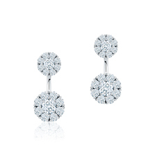 Birks Snowflake Large Round Jacket Earrings