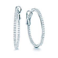 Birks Rosée du Matin Medium 0.65ct Diamond Hoop Earrings