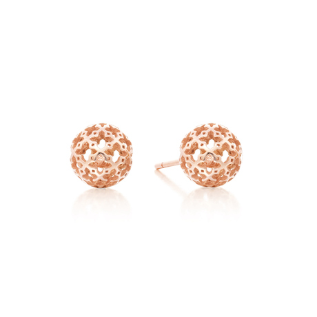 Birks Muse Mesh Ball Stud Earrings