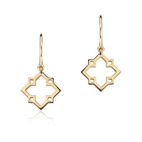 Birks Muse Monogram Drop Earrings