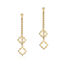 Birks Muse Monogram Double Drop Earrings