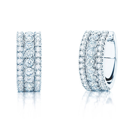 Birks Splash 1.17ct Diamond Hoop Earrings