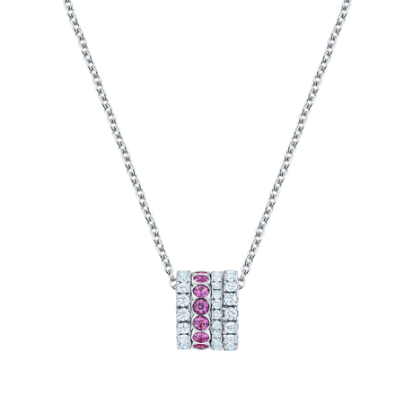 Birks Splash 0.70ct Diamond and Pink Sapphire Necklace