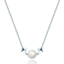 Birks Rock & Pearl Silver and Pearl Necklace