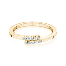 Birks Rosée du Matin Yellow Gold Flex Wrap Ring - Ring Size O