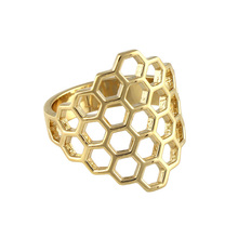Birks Bee Chic Honeycomb Ring - Ring Size K