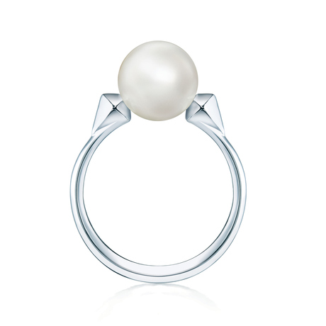 Birks Rock & Pearl Ring - Ring Size O