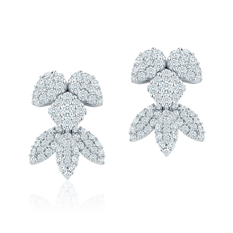 Birks 18ct White Gold Snowflake 2.15ct Earrings