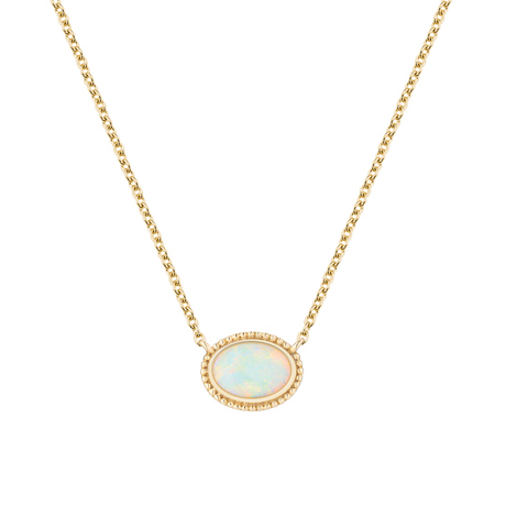 Birks Yellow Gold and Opal Pendant
