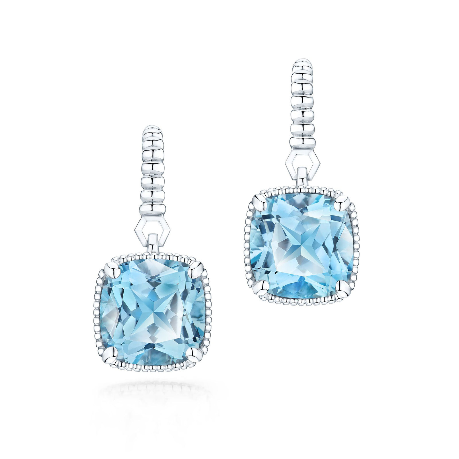 Birks Bee Chic Silver Blue Topaz Drop Earrings