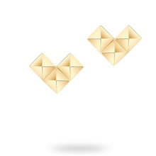 Birks Rock & Pearl Yellow Gold Pixel Stud Earrings