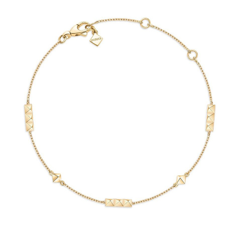 Birks Rock & Pearl Yellow Gold Pixel Station Bracelet