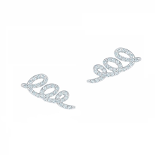 For Her - Plaisirs de Birks Diamond Swirl Earrings - 450011731101