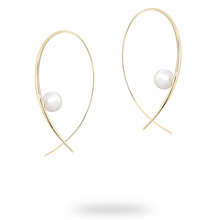 Birks Gold and Pearl Freshwater Pearl Hoop Earrings