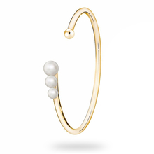 Birks Gold and Pearl Cuff Bracelet