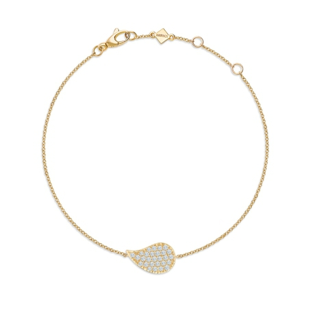 Birks Pétale Yellow Gold and Diamond Bracelet
