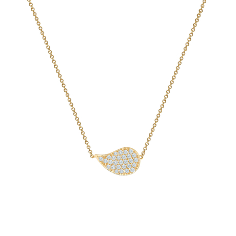 Birks Pétale Yellow Gold and Diamond Necklace