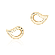 Birks Pétale Yellow Gold Stud Earrings
