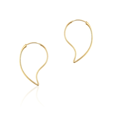 Birks Pétale Yellow Gold Hoop Earrings