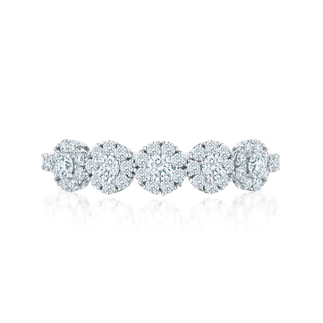 Birks Snowflake Cluster 0.60ct Diamond Ring