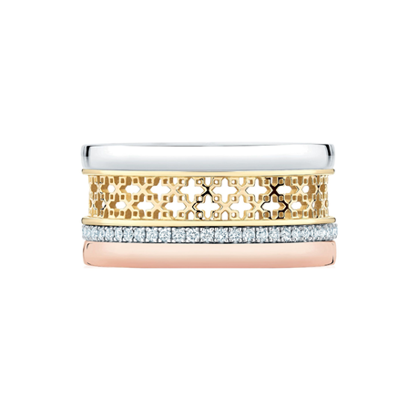 Birks Iconic Double Stacked Diamond Ring