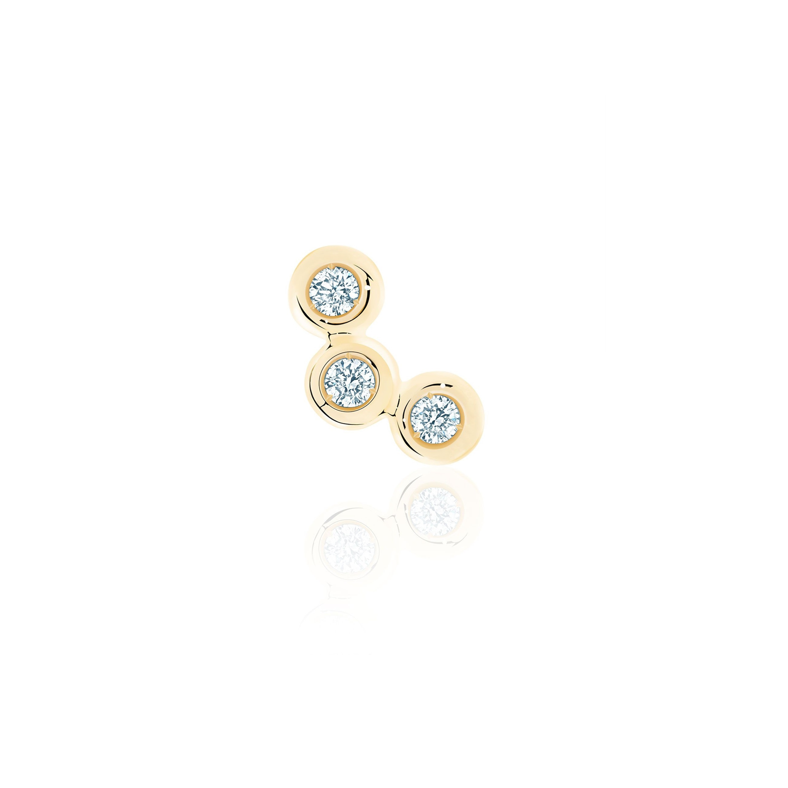 Birks Iconic Yellow Gold and Diamond Splash Single Earring