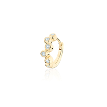 Birks Iconic Yellow Gold and Diamond Splash Single Huggie Earring