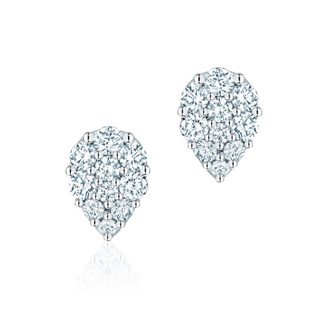 Birks Snowflake Starry Night Small Pear-Shaped Cluster Diamond Earrings