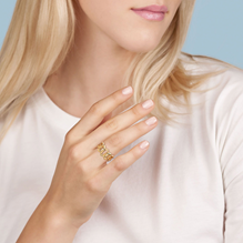 Birks Bee Chic Bold Gold Yellow Gold Link Ring
