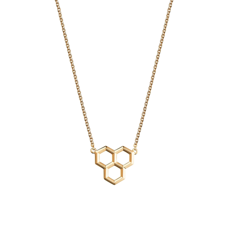 Birks Bee Chic Yellow Gold Hexagons Pendant