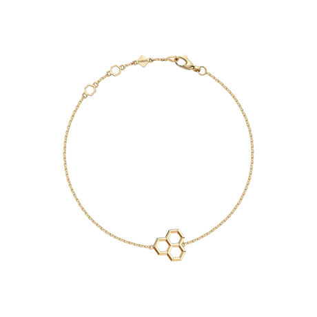 Birks Bee Chic Yellow Gold Hexagons Bracelet