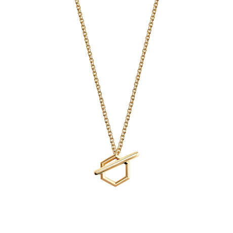 Birks Bee Chic Yellow Gold Toggle Necklace