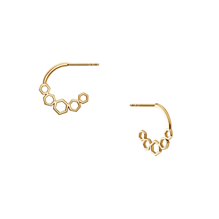 Birks Bee Chic Yellow Gold Hoop Link Earrings