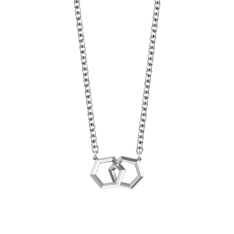 Birks Bee Chic Silver Interlocking Pendant
