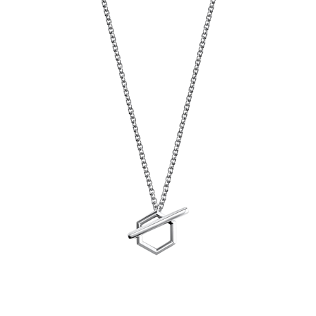 Birks Bee Chic Silver Toggle Necklace