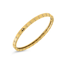 Roberto Coin Symphony 18ct Yellow Gold Bangle With Round Design