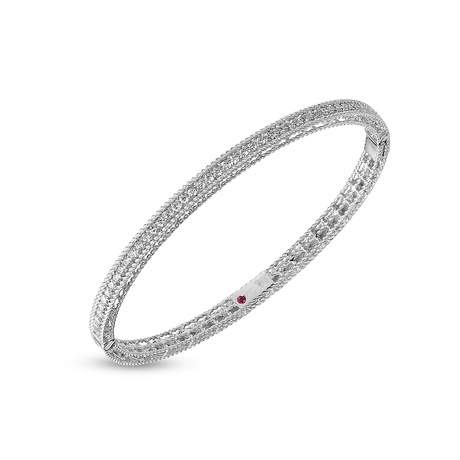 For Her - Roberto Coin Symphony 18ct White Gold 0.61 Total Carat Weight Diamond Bangle - ADR777BA075101 W