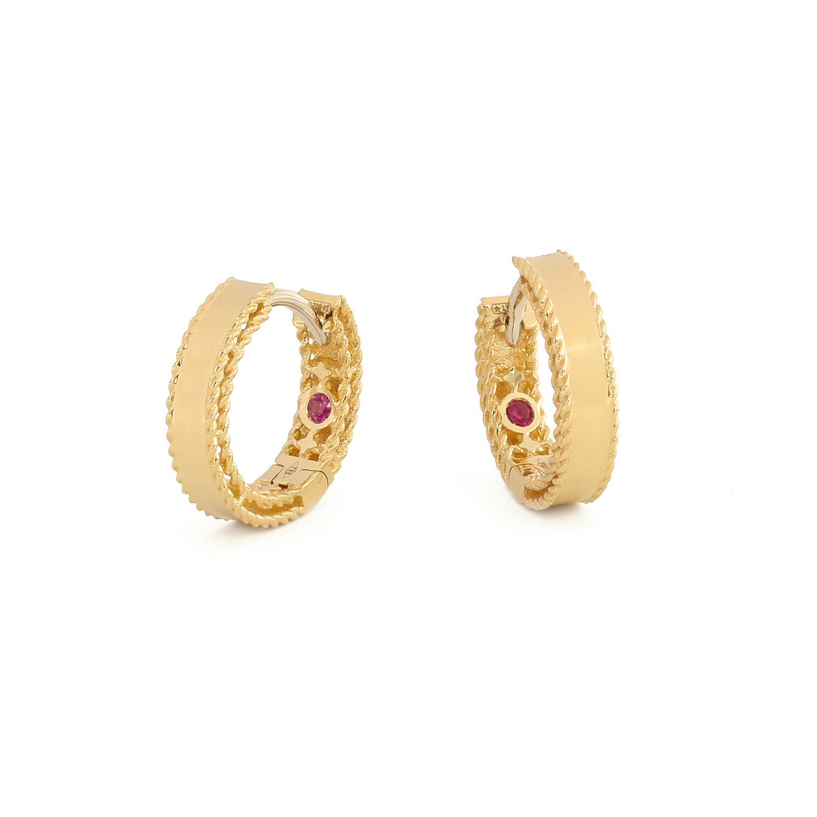 Roberto Coin Symphony 18ct Yellow Gold Hoop Earrings