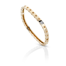 Roberto Coin Pois Moi 18ct Yellow Gold 0.08ct Diamond Bangle