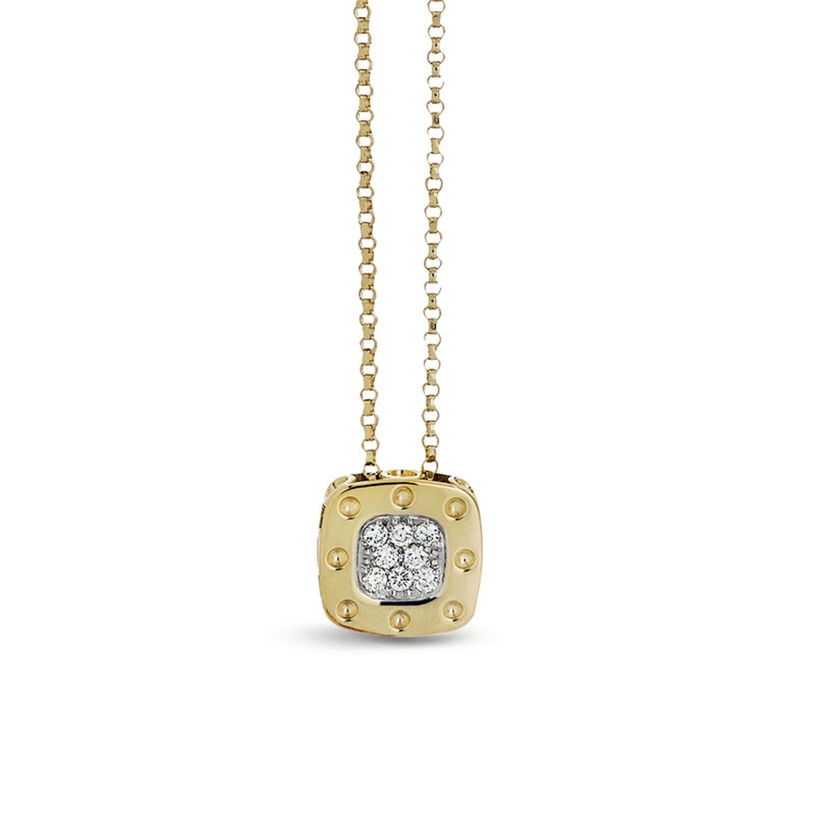 Roberto Coin Pois Moi 18ct Yellow And White Gold 0.124 Diamond Pendant